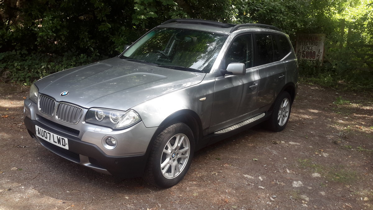 BMW X3  3.0D SE 2007 AUTOMATIC PAN ROOF LEATHER SAT NAV For Sale (picture 1 of 6)