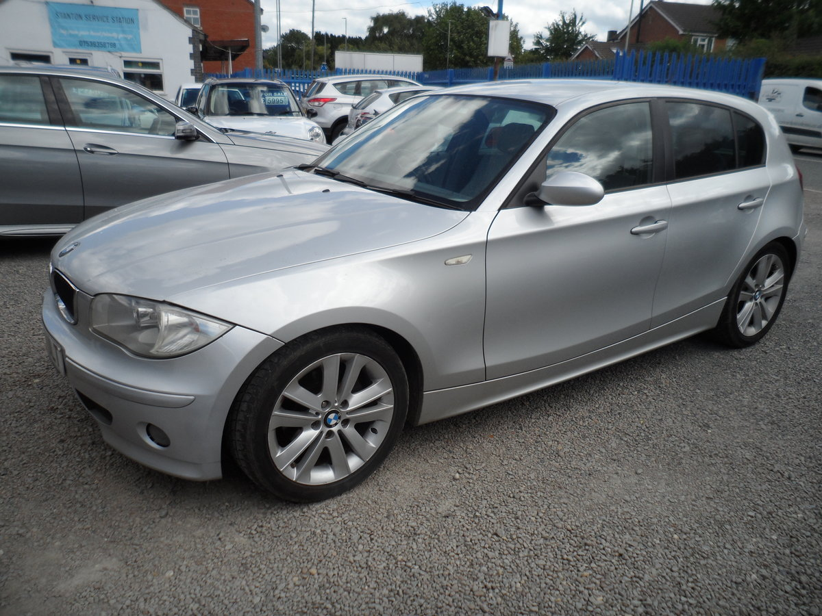2007 BMW ONE 5 DOOR HATCHBACK S.E MODEL WITH LEATHER TRIM 144K 07 For Sale (picture 1 of 6)