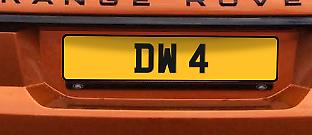 DW 4 Cherished Registration Number