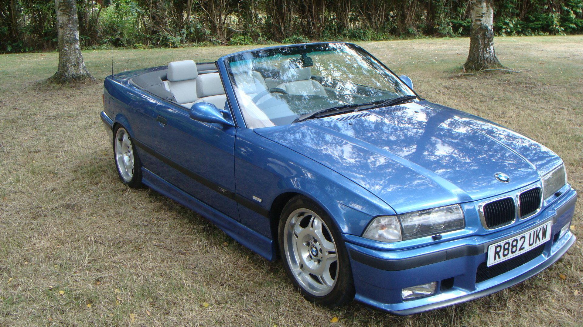 1997 BMW M3 Evolution Cabriolet in Estoril Blue For Sale (picture 1 of 6)