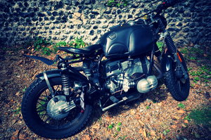 Picture of 1981 BMW R100 custom bobber from Kevils Speedshop