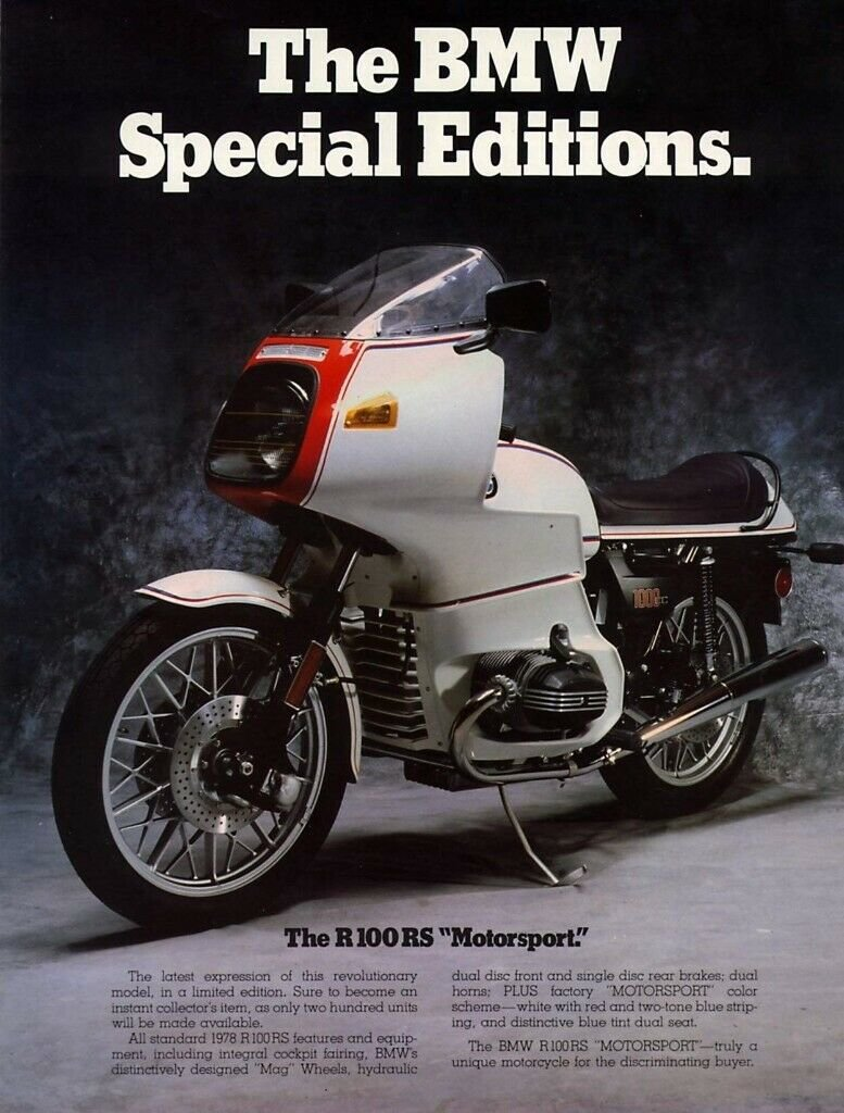 1978 Fantastic BMW r100 RS Motorsport edition For Sale (picture 6 of 6)