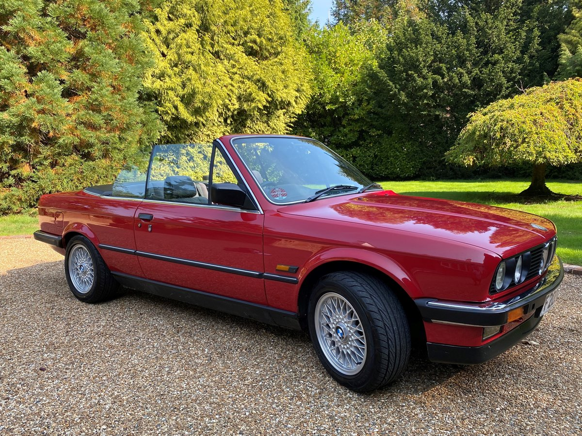 1988 BMW E30 320i Convertible manual full MOT history For Sale (picture 1 of 6)