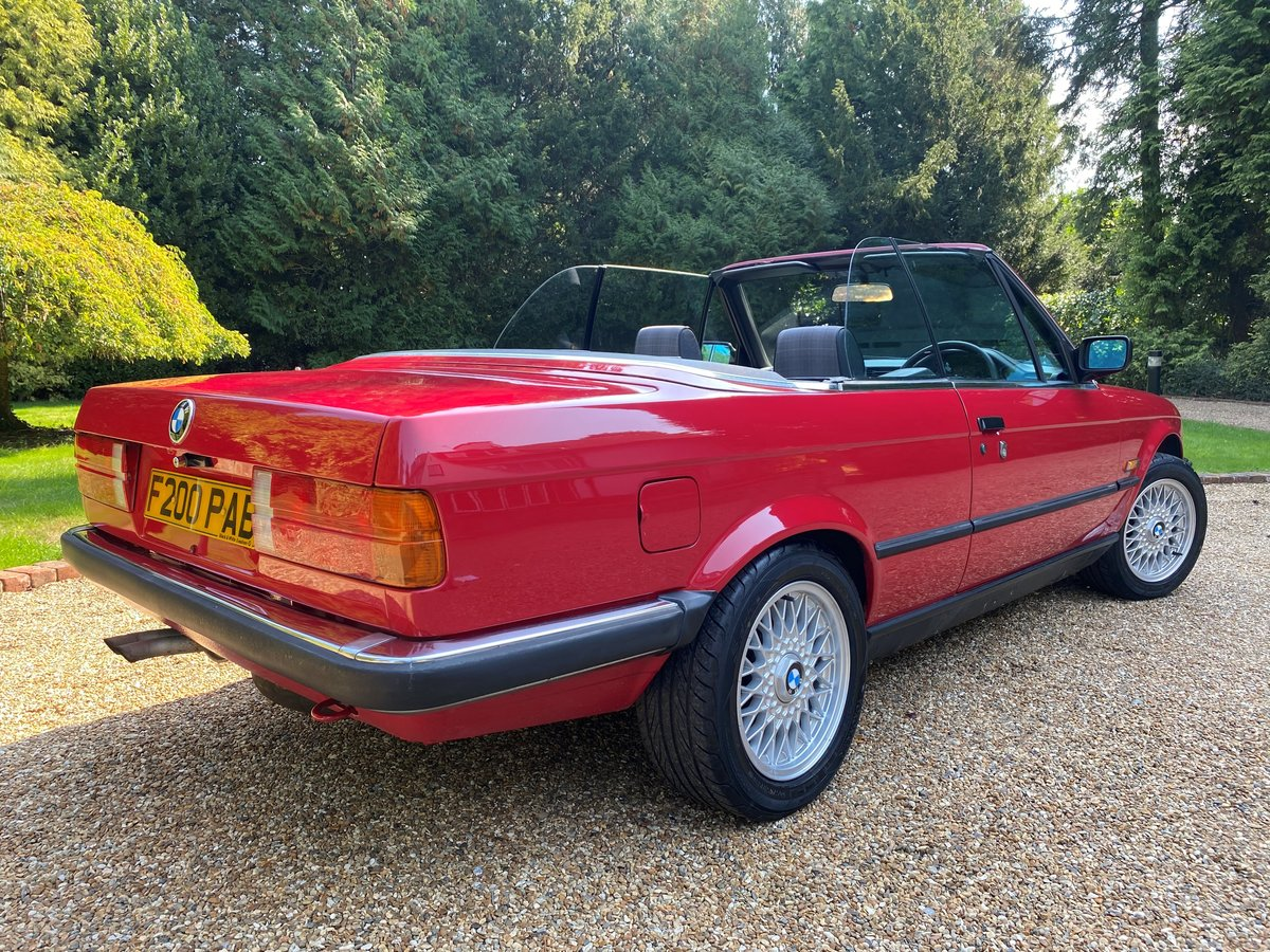 1988 BMW E30 320i Convertible manual full MOT history For Sale (picture 2 of 6)