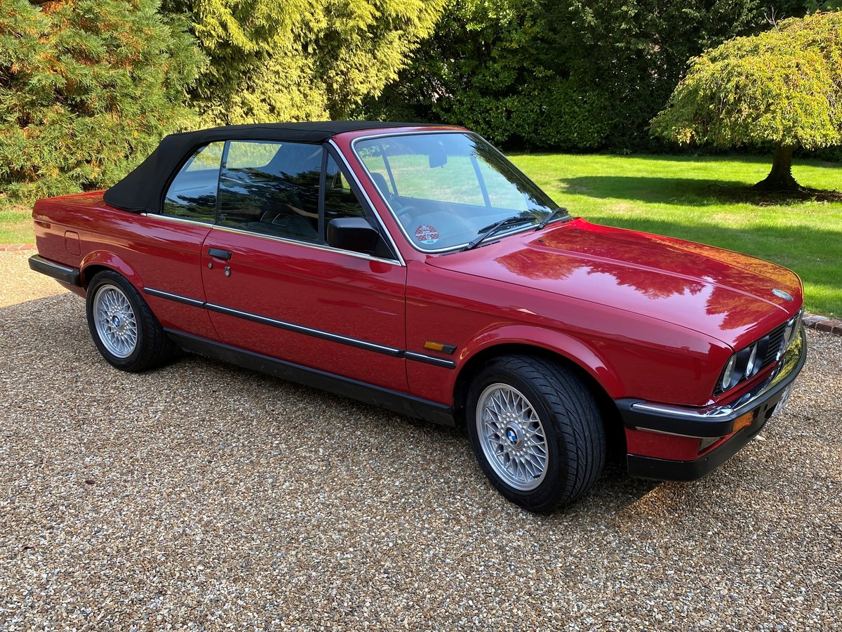 1988 BMW E30 320i Convertible manual full MOT history For Sale (picture 4 of 6)