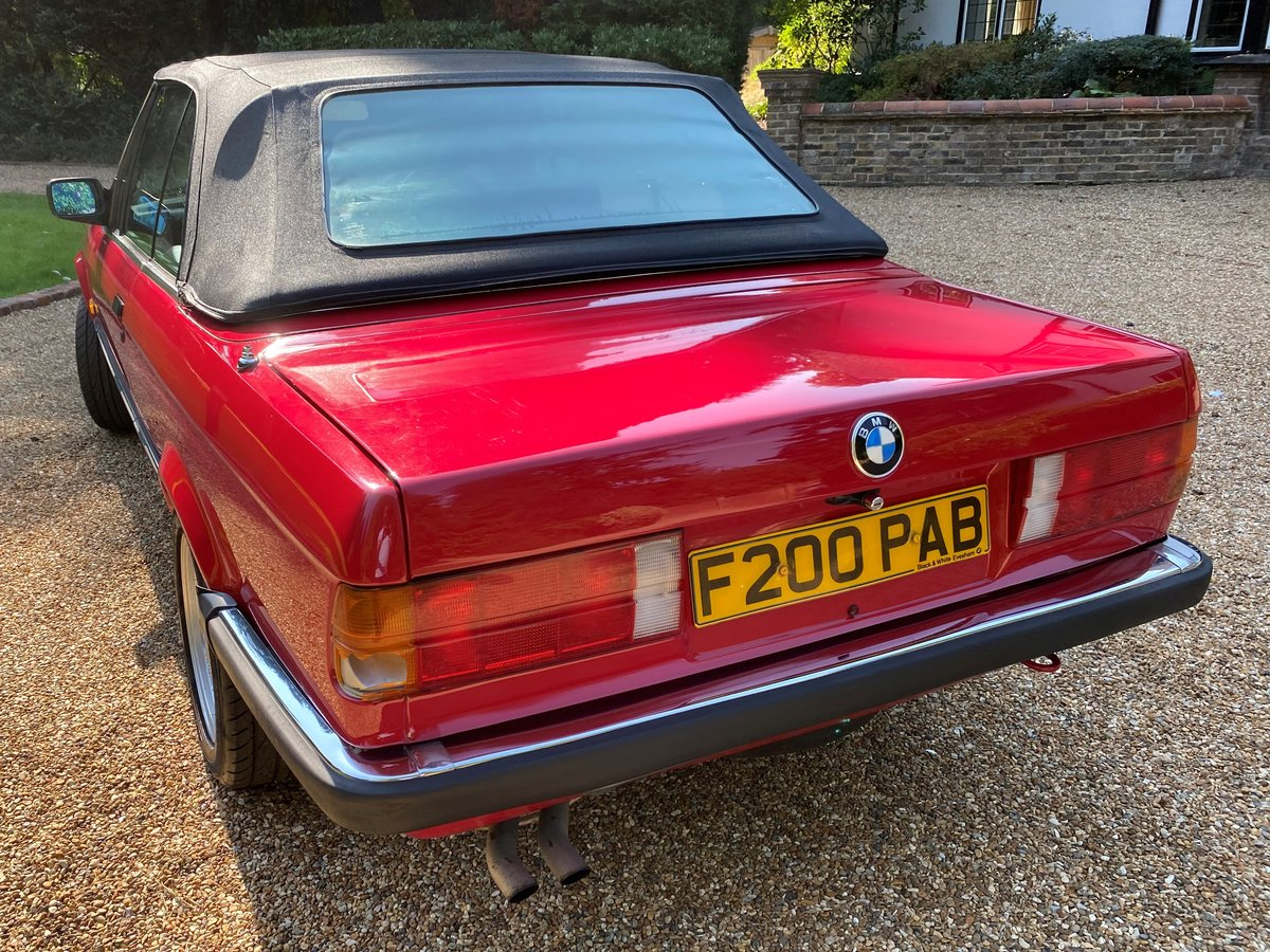1988 BMW E30 320i Convertible manual full MOT history For Sale (picture 5 of 6)
