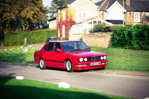 E28 M535i, Zinnober red, manual, LSD, Bilsteins
