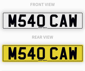 Private Personalised Number Plate For BMW M 540i