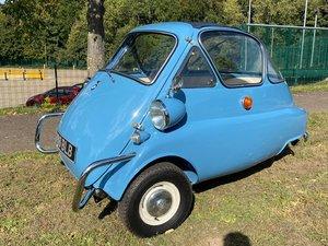 1957 BMW Isetta 300 'bubble window' bubble car in baby blue