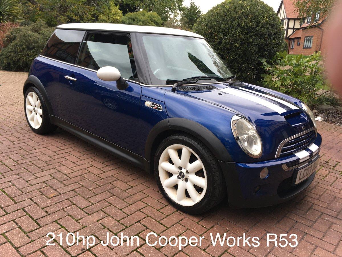 2003 John Cooper Works 210hp Mini Cooper S R53 FSH For Sale (picture 1 of 6)