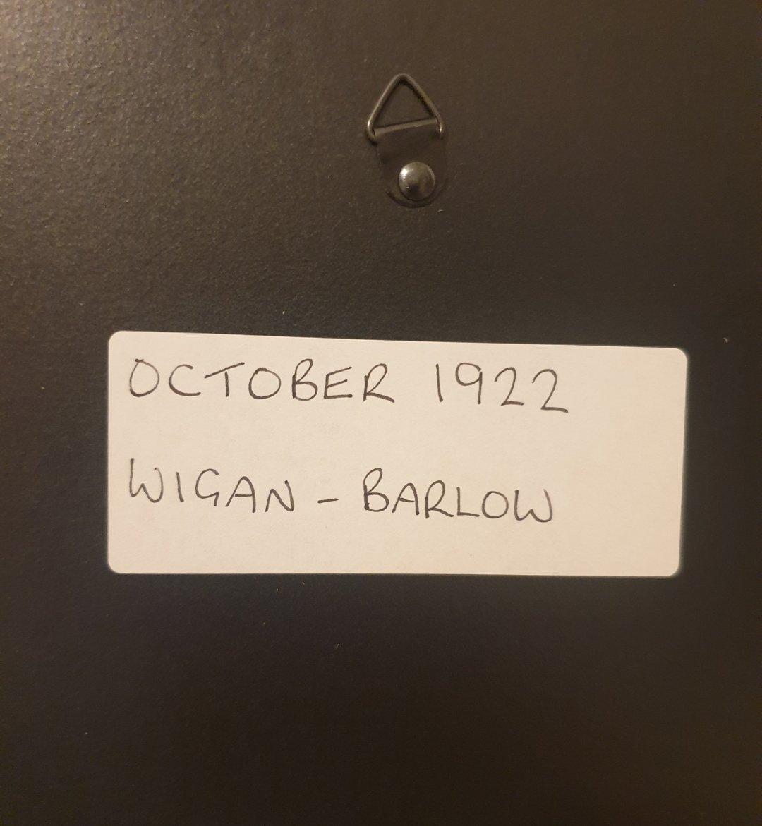 1980 Original 1922 Wigan-Barlow Framed Advert  For Sale (picture 2 of 3)