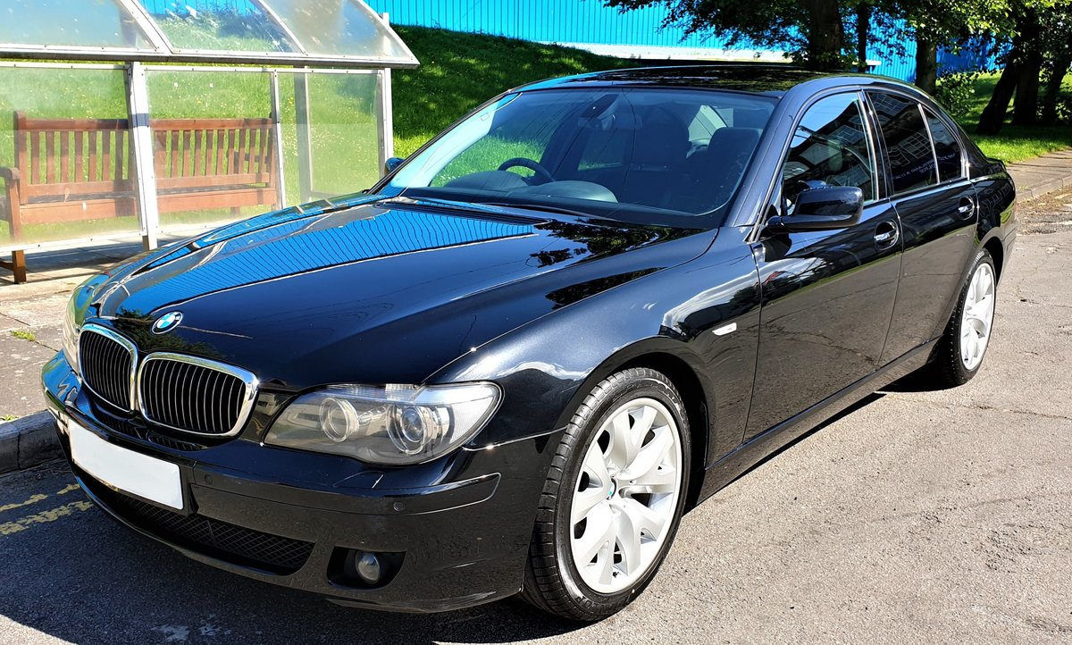 2007 BMW 730D SPORT BLACK WITH BLACK SPORTS SEATS FULL MOT For Sale (picture 1 of 6)