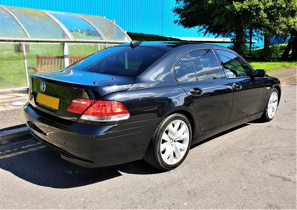 2007 BMW 730D SPORT BLACK WITH BLACK SPORTS SEATS FULL MOT For Sale (picture 3 of 6)