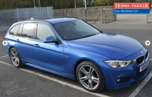 BMW 330d M Sport Auto 17,755 Miles for auction 25th