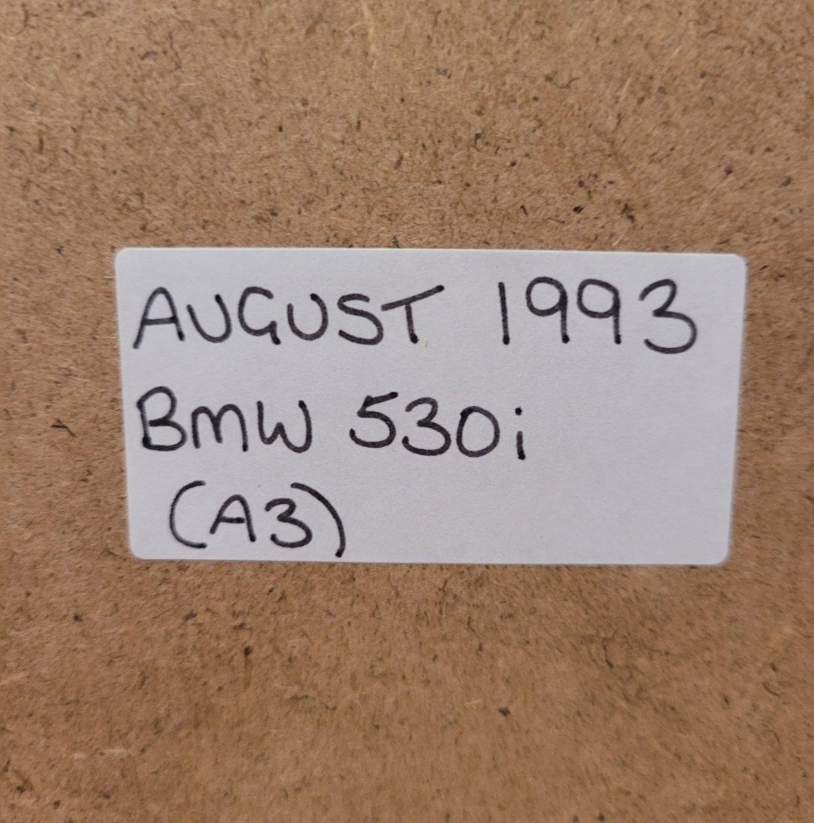 1973 Original 1993 BMW E34 530i Framed Advert For Sale (picture 2 of 3)