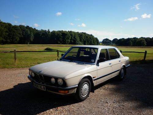 1986 Bmw E28 520i Manual Sold Car And Classic