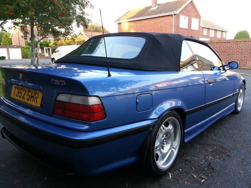 1999 BMW M3 CONVERTIBLE ESTORIL BLUE, LOW MILES, L SOLD ...