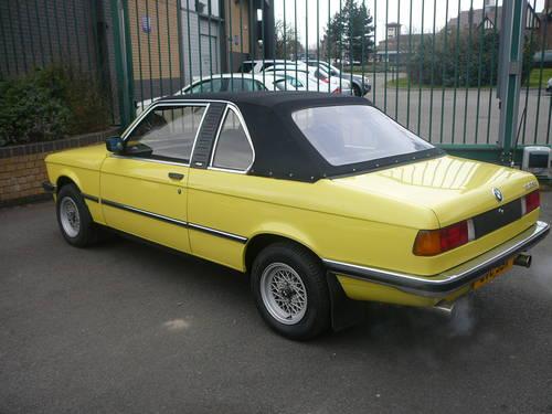 pretty nice e569e 77850 1981 BMW E21 323i Baur Convertable SOLD | Car And Classic