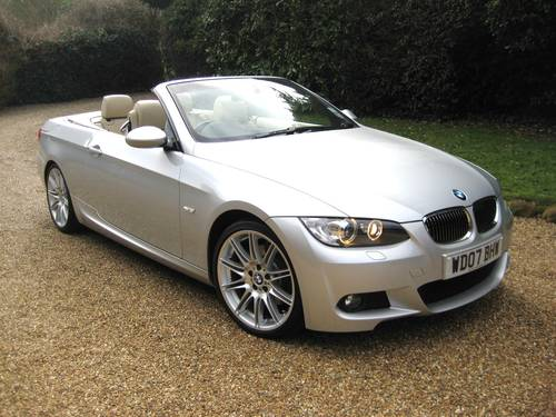 2007 BMW 325i M Sport Convertible With Just 5,000 Miles From New For Sale (picture 1 of 6)