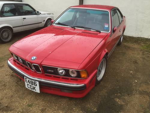 1988 E24 BMW M6 USA LHD spec S88 engine red SOLD (picture 1 of 1)