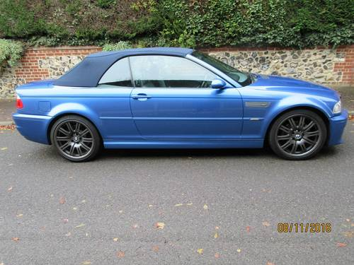 BMW M3 smg drivelogic individual convertible 2003  For Sale (picture 1 of 6)