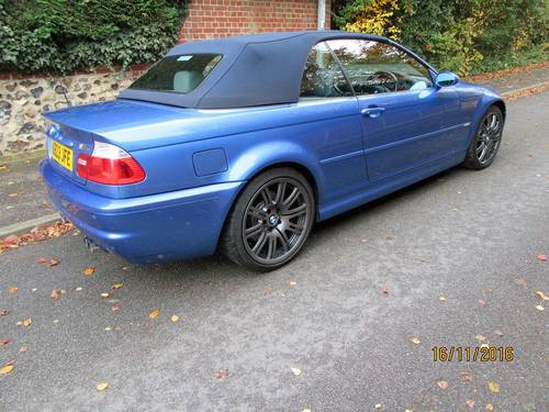BMW M3 smg drivelogic individual convertible 2003  For Sale (picture 4 of 6)