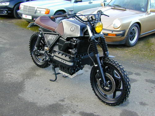 1987 BMW K100 CUSTOM BUILD FLAT TRACKER SPECIAL - UNIQUE - MIND B For Sale (picture 1 of 6)