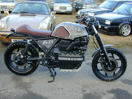 1987 BMW K100 CUSTOM BUILD FLAT TRACKER SPECIAL - UNIQUE - MIND B For Sale (picture 2 of 6)