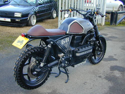 1987 BMW K100 CUSTOM BUILD FLAT TRACKER SPECIAL - UNIQUE - MIND B For Sale (picture 3 of 6)