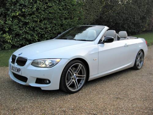 2012 BMW 330D Sport Plus Edition Convertible With 27,000 Miles  For Sale (picture 1 of 6)