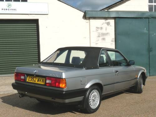 1988 BMW 320i Baur Cabriolet, one owner SOLD (picture 6 of 6)