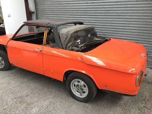 1973 BMW 2002 BAUR CABRIOLET - PROJECT, SAME OWNER 30YR SOLD (picture 2 of 6)