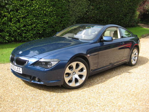 2005 BMW 645CI Auto Coupe With Just 1 Owner From Brand New For Sale (picture 1 of 6)