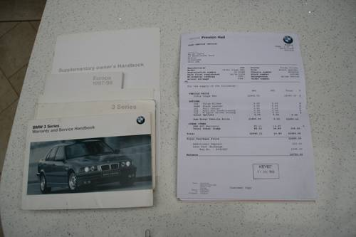 1998 318IS E36 COUPE - SAME OWNER FOR 16 YEARS - ONLY 75K  SOLD (picture 6 of 6)