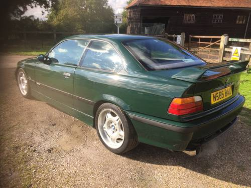 1995 E36 M3 GT S50 - Individual - British racing green -  50 RHD For Sale (picture 5 of 6)
