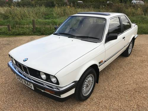 1987 BMW 320i Coupé (E30), stunning condition 74k miles SOLD (picture 1 of 6)