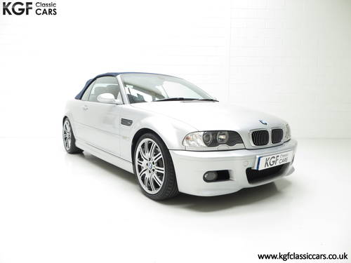 2001 A Stunning BMW E46 M3 Convertible with 45,337 Miles SOLD (picture 1 of 6)