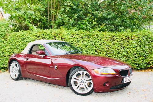 2003 Z4 3.0I SE MANUAL - MERLOT RED WITH CREAM LEATHER  SOLD (picture 1 of 6)