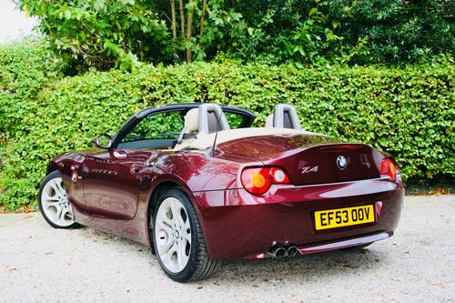 2003 Z4 3.0I SE MANUAL - MERLOT RED WITH CREAM LEATHER  SOLD (picture 3 of 6)