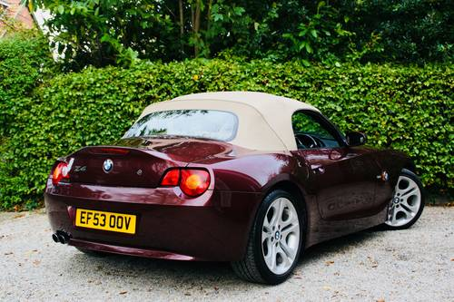 2003 Z4 3.0I SE MANUAL - MERLOT RED WITH CREAM LEATHER  SOLD (picture 4 of 6)