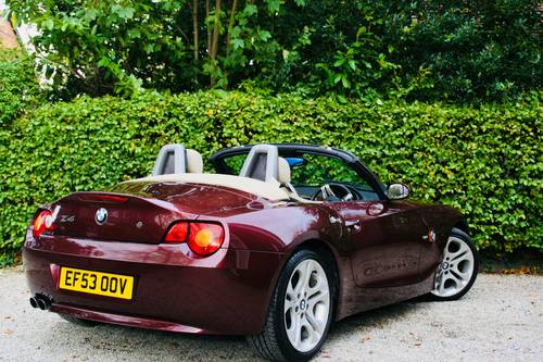 2003 Z4 3.0I SE MANUAL - MERLOT RED WITH CREAM LEATHER  SOLD (picture 5 of 6)