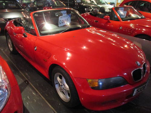 1998 bmw z3 convertible red with black For Sale (picture 1 of 6)