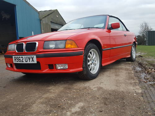1998 BMW E36 318 Convertible 5 speed Manual For Sale (picture 3 of 6)