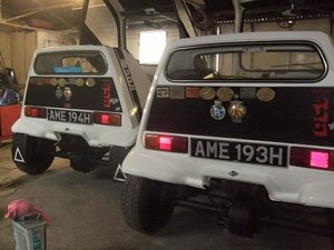 1969 Rothmans bond bugs AME193H and AME194H For Sale