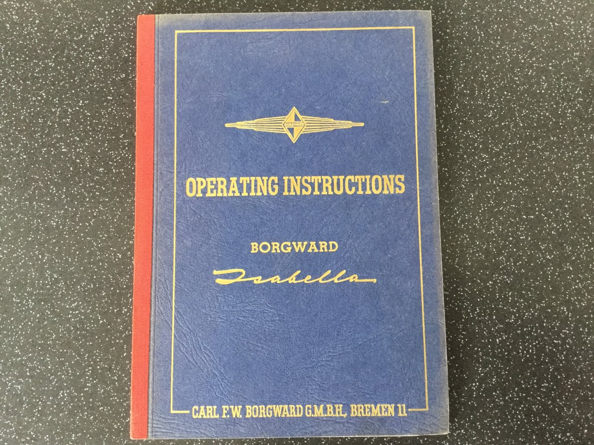 Borgward Isabella operating instructions handbook. For Sale (picture 1 of 6)