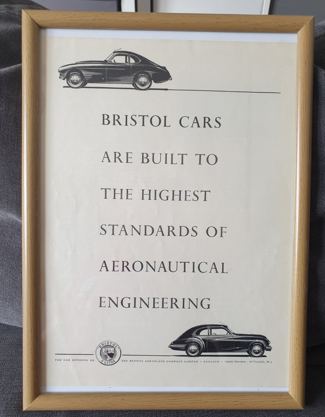 1954 Bristol Advert Original  For Sale (picture 1 of 2)