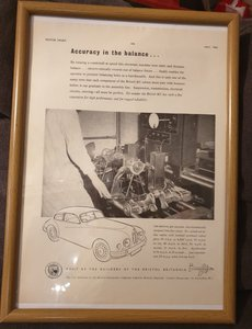Original Bristol Framed Advert