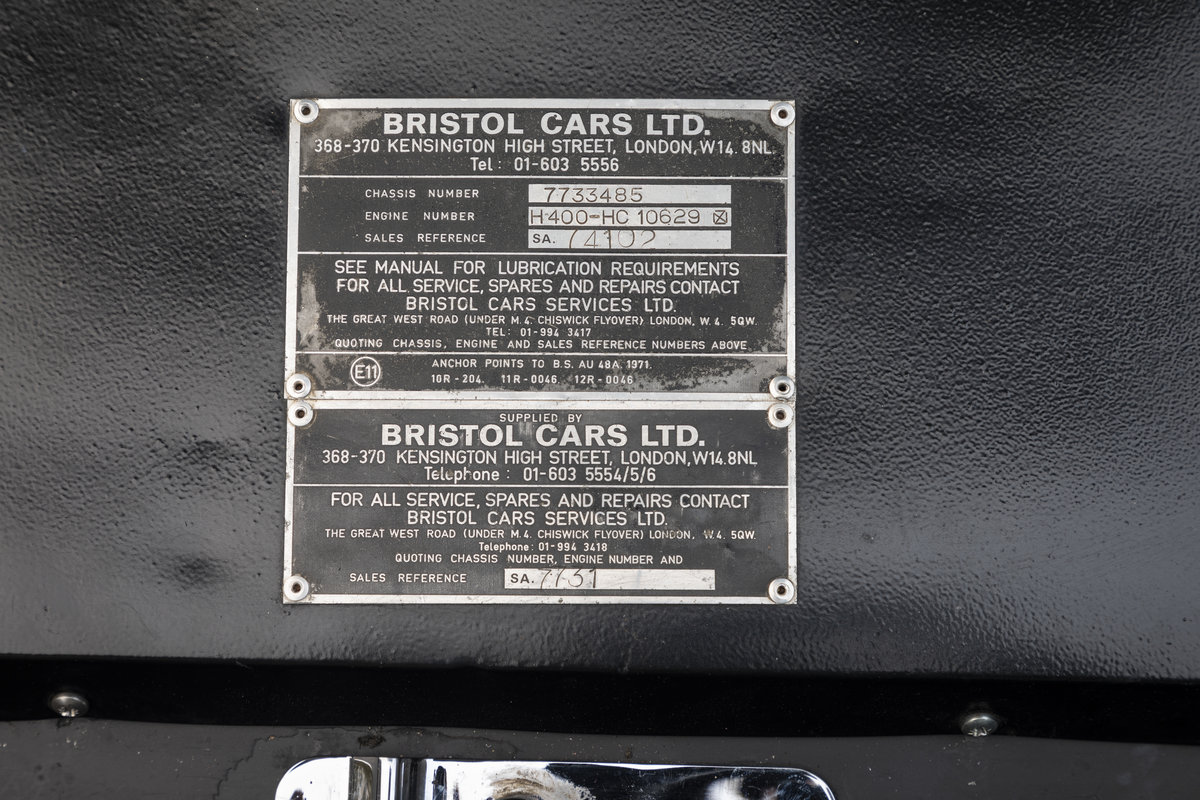 1974 BRISTOL 411 SERIES 4 For Sale (picture 22 of 22)