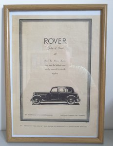 Picture of 1953 Original 1937 Rover P2 Framed Advert