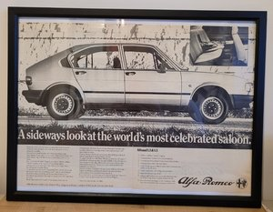 Picture of 1954 Original 1980 Alfasud Framed Advert